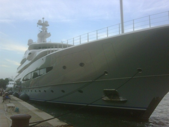 This is a private 300 foot yacht owned by one Alberto Bailleres, ...